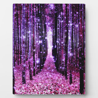 Magical Forest Purple Pink Plaque