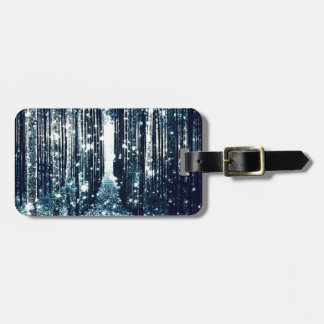 Magical Forest Teal Gray Elegance Luggage Tag