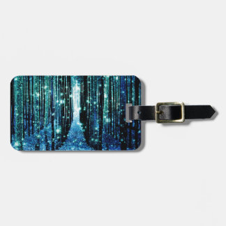 Magical Forest Turquoise Teal Luggage Tag