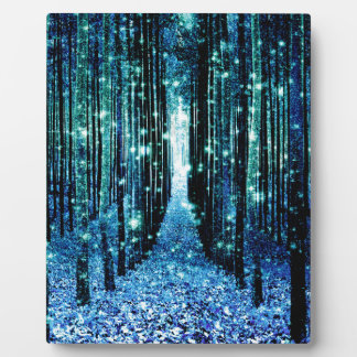 Magical Forest Turquoise Teal Plaque