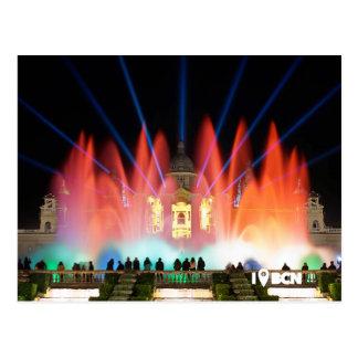 Magical fountain, Barcelona, Spain Postcard