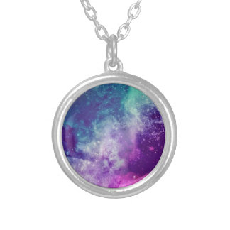 Magical Galaxy Silver Plated Necklace