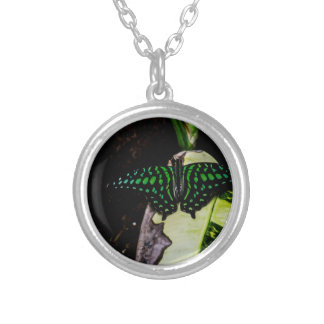 Magical Green Spotted Butterfly Custom Necklace