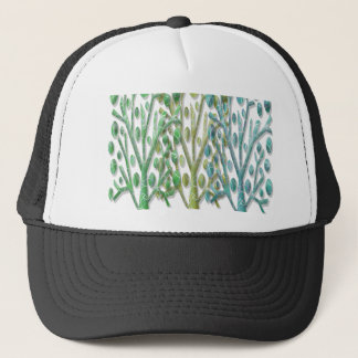 Magical green trees trucker hat