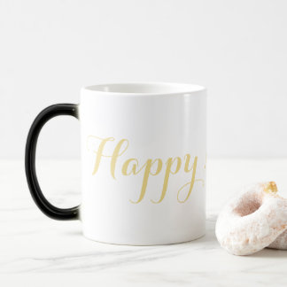 Magical Happy New Year Faux Gold Coffee Milk Tea Magic Mug