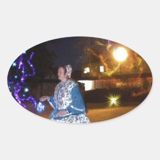 Magical Haunted Dahlonega- Spirits, Legends &Lore Oval Sticker