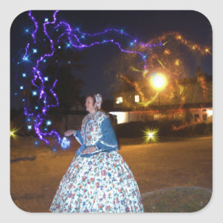 Magical Haunted Dahlonega- Spirits, Legends &Lore Square Sticker