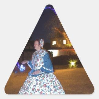 Magical Haunted Dahlonega- Spirits, Legends &Lore Triangle Sticker