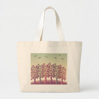 Magical hill large tote bag
