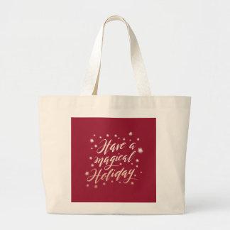 magical holiday Jumbo Tote Bag
