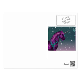 Magical Holiday Unicorn Post Card