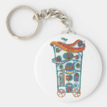 Magical House on Wheels Keychains