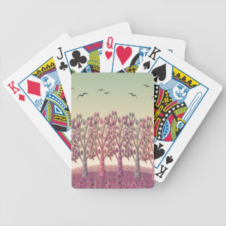 Magical landscape poker deck