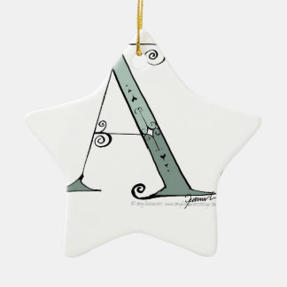 Magical Letter A from tony fernandes design Ceramic Star Decoration