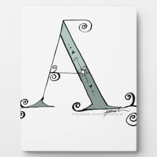 Magical Letter A from tony fernandes design Plaque