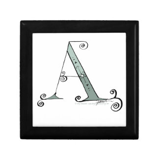 Magical Letter A from tony fernandes design Small Square Gift Box