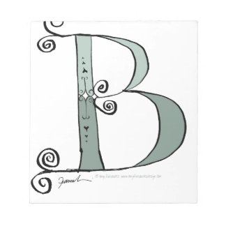 Magical Letter B from tony fernandes design Notepad