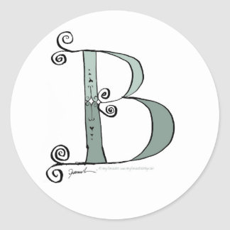 Magical Letter B from tony fernandes design Round Sticker