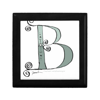 Magical Letter B from tony fernandes design Small Square Gift Box