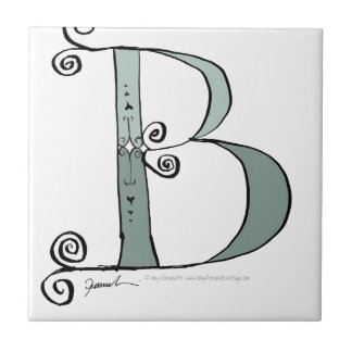 Magical Letter B from tony fernandes design Small Square Tile