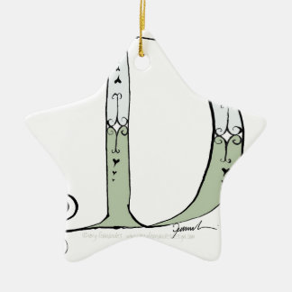Magical Letter D from tony fernandes design Ceramic Ornament