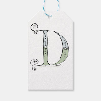 Magical Letter D from tony fernandes design Gift Tags
