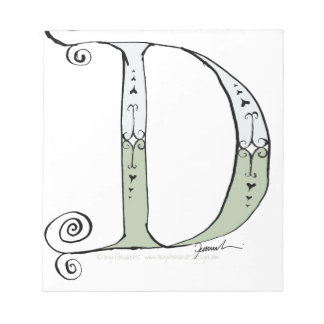 Magical Letter D from tony fernandes design Notepad