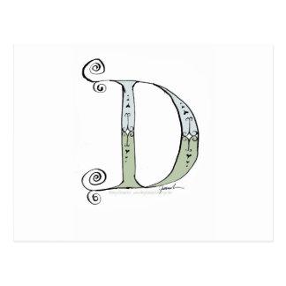 Magical Letter D from tony fernandes design Postcard