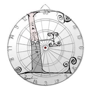 Magical Letter E from tony fernandes design Dartboard