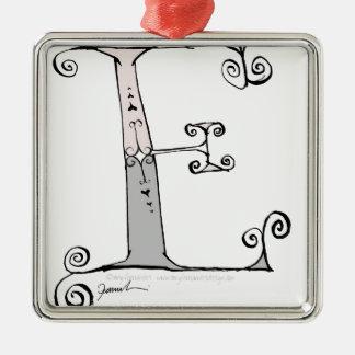 Magical Letter E from tony fernandes design Metal Ornament