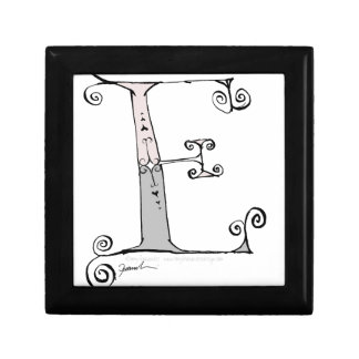 Magical Letter E from tony fernandes design Small Square Gift Box