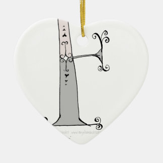 Magical Letter F from tony fernandes design Ceramic Ornament