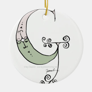 Magical Letter G from tony fernandes design Ceramic Ornament