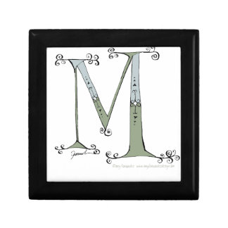 Magical Letter M from tony fernandes design Small Square Gift Box