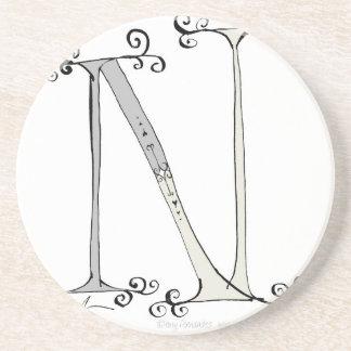 Magical Letter N from tony fernandes design Coaster