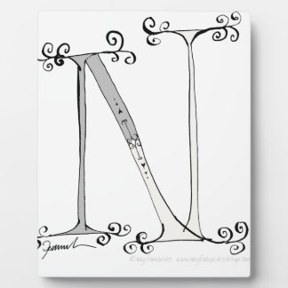 Magical Letter N from tony fernandes design Photo Plaques
