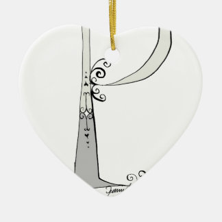 Magical Letter P from tony fernandes design Ceramic Heart Decoration