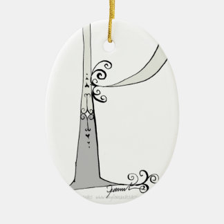 Magical Letter P from tony fernandes design Ceramic Ornament