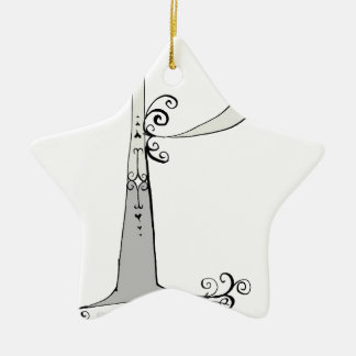 Magical Letter P from tony fernandes design Ceramic Star Decoration