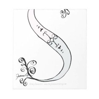 Magical Letter S from tony fernandes design Notepad