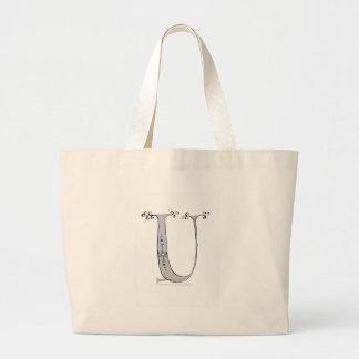 Magical Letter U from tony fernandes design Large Tote Bag