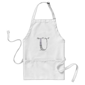 Magical Letter U from tony fernandes design Standard Apron