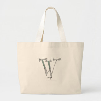 Magical Letter W from tony fernandes design Large Tote Bag