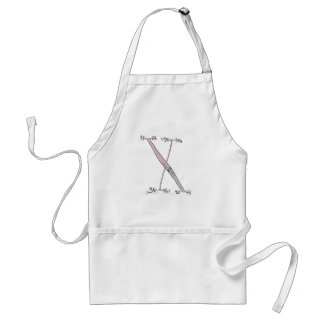 Magical Letter X from tony fernandes design Standard Apron