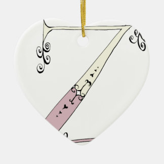 Magical Letter Z from tony fernandes design Ceramic Ornament