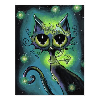 Magical Little Friend Dragon and Cat Postcard
