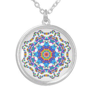 *~* Magical Mandala Throat Chakra Silver Plated Necklace