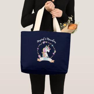 Magical Marvellous Aunt  - Unicorn Princess Large Tote Bag