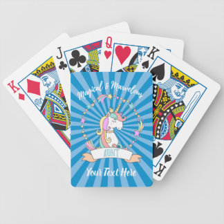 Magical Marvelous Aunt  - Unicorn Princess Bicycle Playing Cards