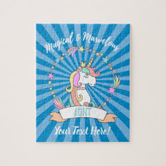 Magical Marvelous Aunt  - Unicorn Princess Jigsaw Puzzle